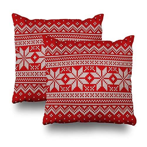 GFGKKGJFD Juego de 2 fundas de cojín de Navidad, para sofá, adolescentes, niñas, 18 x 18 cm, color rojo