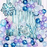 SPECOOL Ballon Guirlande Arch Kit Décoration Anniversaire de Ballon Decoration Anniversaire Fille Deco,Ballons Violets Bleus Blancs pour Anniversaire Mariage Fond fête Décoration Fournitures
