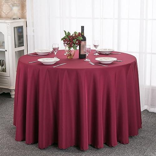 Tablecloth Runde Tischdecketischdecke des starken festen Hotelhotel-Restauranttuches (Farbe   Weißrot, Größe   300cm)