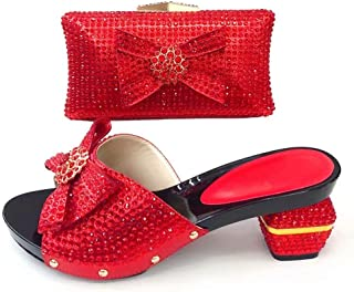 Silver Color Italian Shoe with Matching Bag Set Decorated with Appliques African Women Edge Shoes and Bag Set for Wedding Party