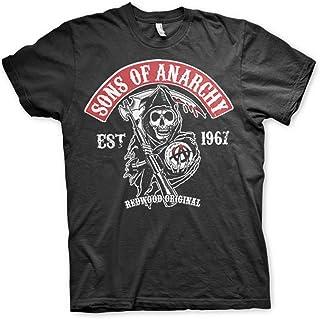 6037d409 Sons of Anarchy Redwood Original Reaper Official TV Series Mens Black T- Shirt