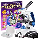 AmScope 'Awarded 2018 Best Students and Kids Microscope Kit' - 40X-1000X Dual Light All Metal...