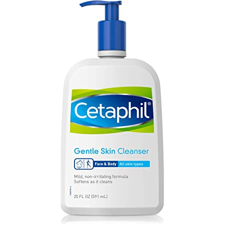 Face Wash by Cetaphil, Hydrating Gentle Skin Cleanser for Dry to Normal Sensitive Skin, 20 oz, Fragrance Free, Fragrance Free and Non-Foaming