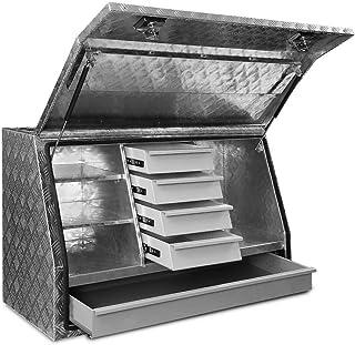 Aluminium Truck Car Storage Tool Box Underbody Checker Plate Tool Boxes Drawers Canopy Trailer Locks Giantz