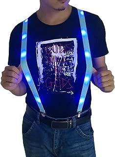 Led Light Up Suspenders Pants Braces Glow Clothing Novelty Party Rave Suspender