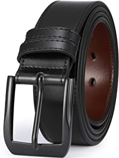 "Beltox Fine Men's Casual Leather Jeans Belts 1 1/2"" Wide 4MM Thick Alloy Prong Buckle Work Dress Belt for Men"