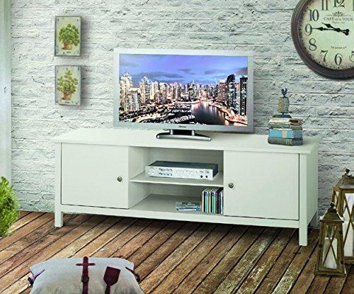 Porte-TV, Style Classique, en Bois Massif et MDF - Mes. 165X48X56H+100% Made in Italy