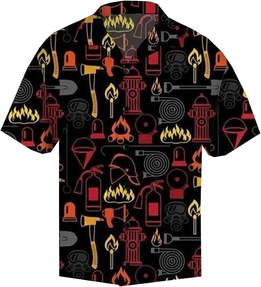 Tropical America Hawaiian Shirts for Men - Tropical America Button Down Mens Hawaiian Shirts Short Sleeve Series 170