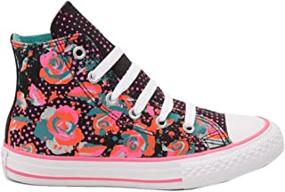 Converse Youths Chuck Taylor Hi Top Floral Canvas Trainers