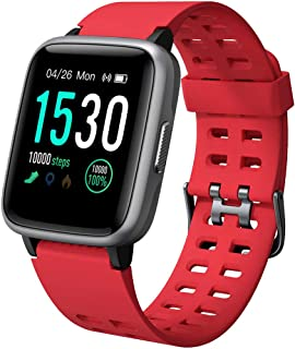 YAMAY Smartwatch Orologio Fitness Uomo Donna Impermeabile IP68 Smart Watch Cardiofrequenzimetro da Polso Contapassi Smartb...