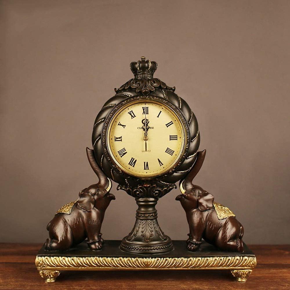 zZZ Imitation 5 ☆ very popular Copper Crafts Lucky Fashion Table Elephant R Clock Fresno Mall