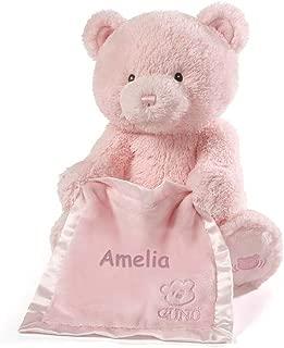 Personalized Peek A Boo Plush Toy (Peek A Boo Bear - Pink)