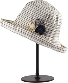 Hats Can Be Folded Outdoor Ribbon Hat Can Be Adjustable Head Hat Hat Lady Summer Big Brim Shade Straw Hat Fashion (Color : Gray)
