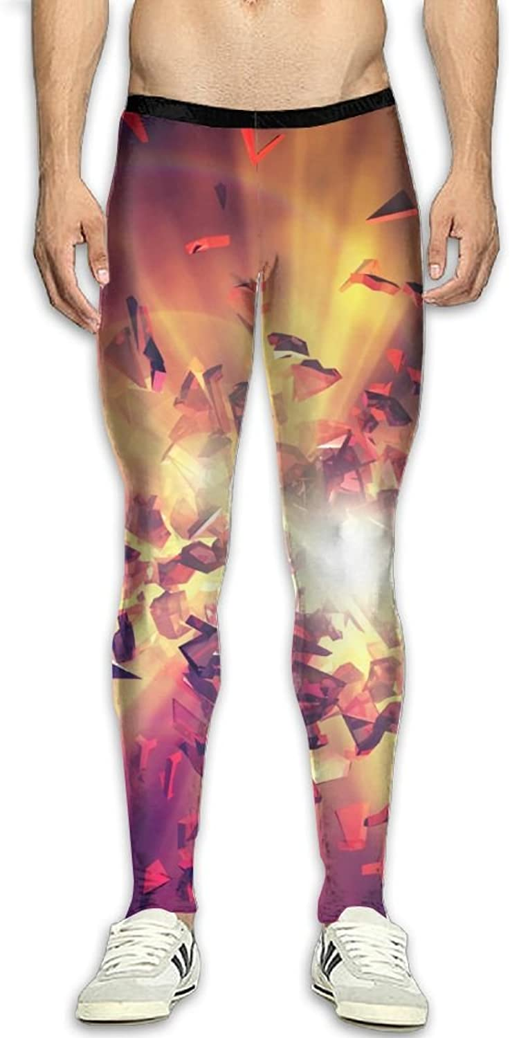 Compression Pants Magic Explosion Shards Leggings Tights Bodybuilding Long Sports Workout Yoga GYM Running Fitness For Men