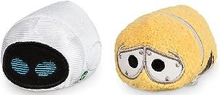 "Disney Store Pixar Mini Tsum Tsum Wall-E Set of 2 Stuffed 3.5"" Plush Toys Wall-E and Eve"