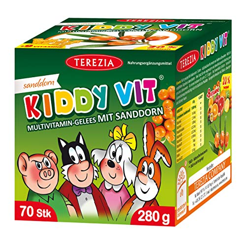TEREZIA Multivitamine Original Gelee-Drops/Gummibärchen für Kinder, enthaltet Sanddorn und 9 verschiedene Vitamine. Ohne jegliche chemische Zusatzstoffe, Konservierungsmittel und Farbstoffe