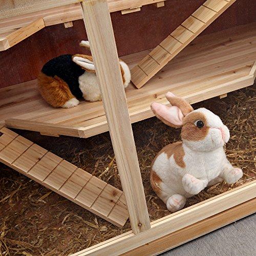 Nagerkäfig Villa Hamsterkäfig Mäusekäfig Kleintierkäfig Käfig Rattenkäfig Holz - 7