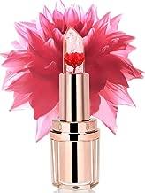PrettyDiva Jelly Flower Lipstick - Lip Care Temperature Change Moisturizer Lip Balm Lip Scrubs -Flame Red