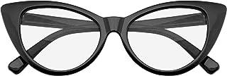 Sponsored Ad - Emblem Eyewear - Super Cat Eye Glasses Vintage Fashion Mod Clear Lens Eyewear