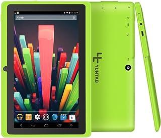 Yuntab Google Tablet 7 Pulgadas Q88 Android 4.4 Tablet PC Quad-Core 1 + 8GB Allwinner A33 HD 1024x600 1.5GHz Preinstalado cámara Dual Google Play WiFi 3D Bluetooth (Green)