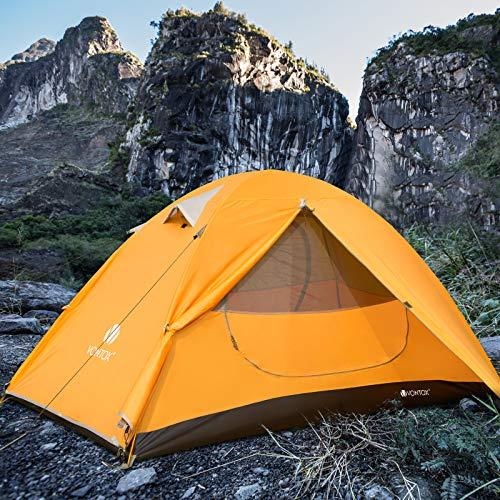 V VONTOX Tenda Campeggio, 1 Persone Ultra-Leggero Tenda Impermeabile a Due Porte per Campeggio, Escursioni, Arrampicata