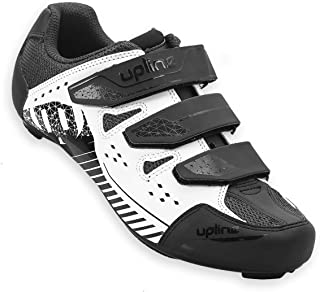 Hiland Indoor Spinning Road Bike Cycling Shoes for Men Women Black White