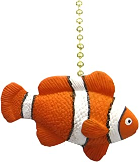 Clementine Designs Tropical Reef Orange Clown Fish Nemo Ceiling Fan Light Pull