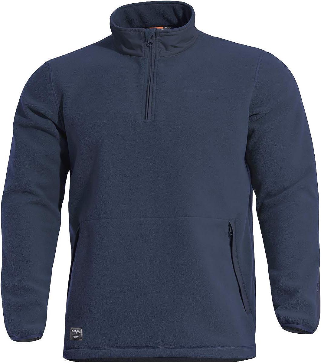 Pentagon Men's Kedros Fleece Sweater Midnight Blue
