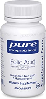 Pure Encapsulations - Folic Acid - Hypoallergenic Dietary Supplement - 60 Capsules