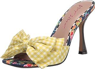 Betsey Johnson Women's SKYEE Heeled Sandal, Fruit Multi, 7.5