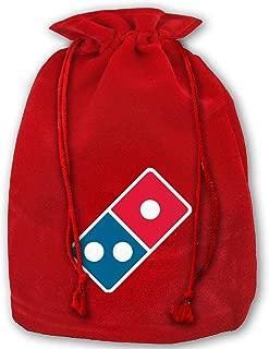 ToderNY Dominoâ€s Pizza Logo Reusable Christmas Santa Sack Bag for Gifts