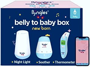Bjingles Baby Bundle: Newborn Essentials & Must Haves-Baby Infrared Thermometer(Ear & Forehead, Non-Contact/Contact for Kids & Adults), Baby Soother & Baby Night Light for Stroller, Crib, and Car seat