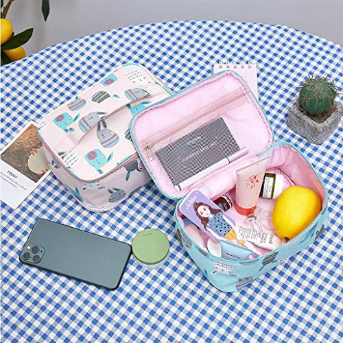 NAIXUE Bolsa de maquillaje de dibujos animados portátil bolsa de cosméticos organizador bolsa de aseo para las mujeres