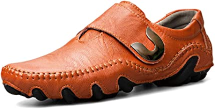 Mens Loafers Casual Boat Shoes Genuine Leather Slip On Driving Moccasins Breathable Flats
