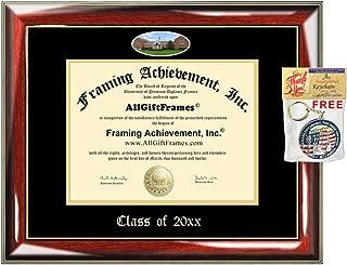 AllGiftFrames Custom Diploma Frame Embossed UMUC University of Maryland University College Best Graduation Degree Frame Double Mat Campus Fisheye Picture Frame Gift