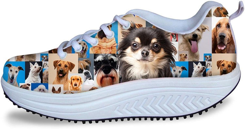 Chaqlin Fashion Slimming Swing Women shoes Kawaii Dog Head Women's Walking Fitness Sneaker US 8