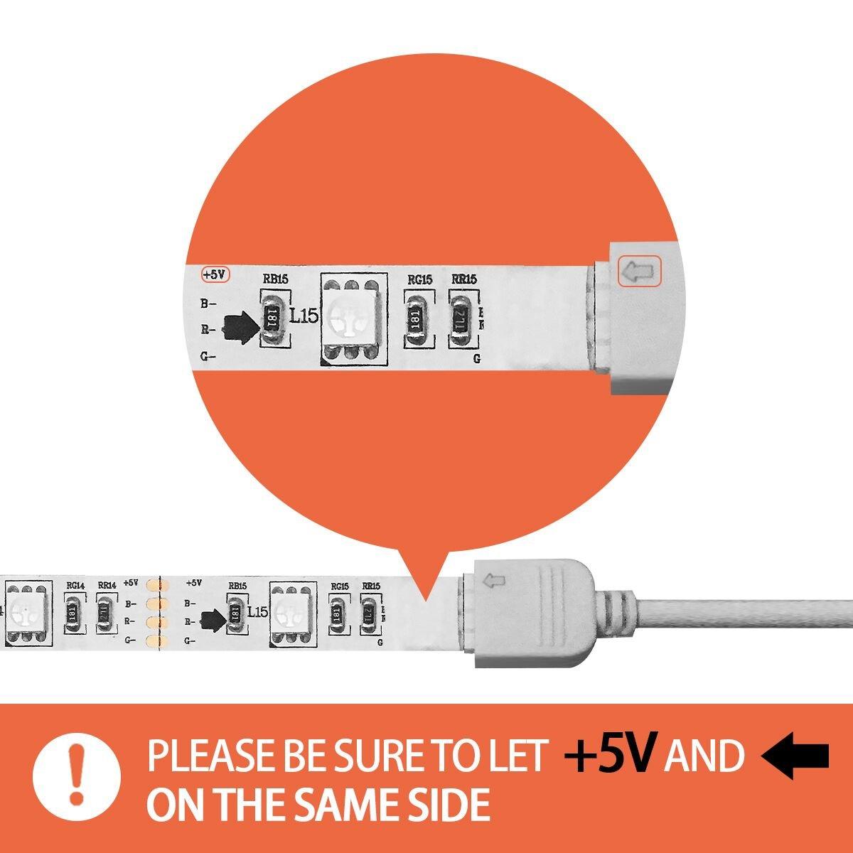 Tiras LED Iluminación (78.7in / 2m. en 4 bandas), EveShine RGB TV ...