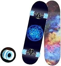 Asdfnfa Skateboard Flash Wheel Profession Tricks Skateboard for Beginner for Kids Boys Girls Cruiser 7 Layers of Canadian Maple (Color : #2)