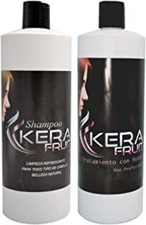 Brazilian keratin treatment KERA FRUIT Keratina chocolate brasileña profesional + Shampoo (Fast Shipping) Usa Seller