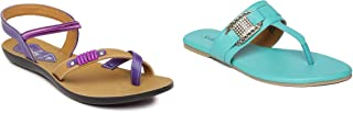 PARAGON Women's Pack of 2 Sandals
