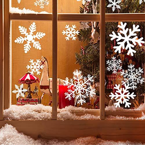 Pegatinasnavidad, Decoracionnavidadescaparates 3 hojas, Vinilosparaventanas reutilizable, 49.5 x 35cm Navidad Pegatina De Ventana, PVC Pegatinas Electrostáticas para decoracion navideña