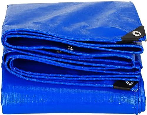 T-ShommeET Bache Imperméable à l'eau Antigel Anti-Poussière Prougeection Solaire Antivieillissement Extérieur, 16 Tailles Tentes Stores Bleus 3,8 X 7,8 M