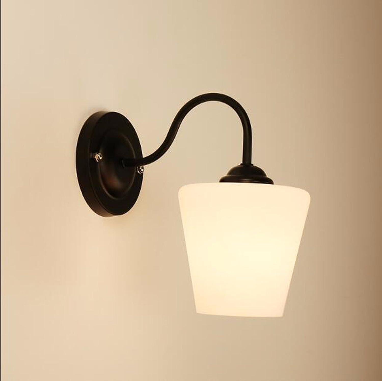Wandlampe Amerikanische Wall Lamp Führte Einfachen Kopf Amerikanischen Wohnzimmer Hintergrund Wand Jane Europa Kreative Garten - Schlafzimmer Mit Lampe,C