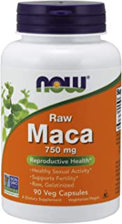 NOW Supplements, Maca (Lepidium meyenii)750 mg Raw, 90 Veg Capsules