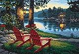 Dimensions - Lienzo numerado para pintar, diseño del cuadro Adirondack Evening
