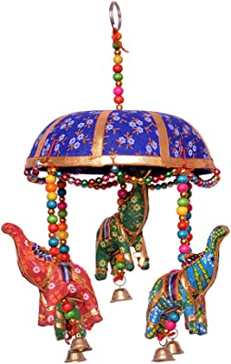 Royal Arts & Crafts Handmade Rajasthani Fabric Elephant Tokri for Home Décor and Gifting