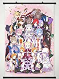 Wall Scroll Poster Fabric Painting For Anime Re ZERO Starting Life in Another World Key Roles L
