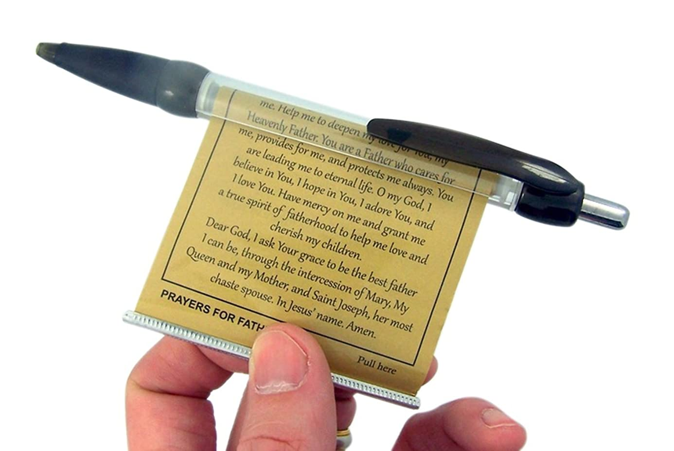 Prayers for Fathers Black Ink Pen with Retractable Prayer Banner (6) vsd2921733