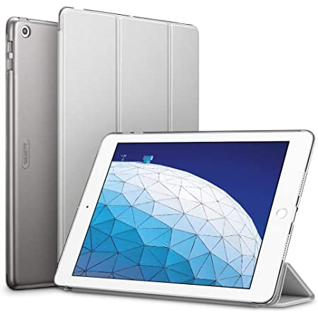 """ESR Yippee Trifold Smart Case Specially Designed for iPad Air 3 10.5"""" 2019, Auto Sleep/Wake Lightweight Stand Case, Hard Back Cover for iPad Air (3rd Gen) 10.5"""" 2019, Silver Gray"""