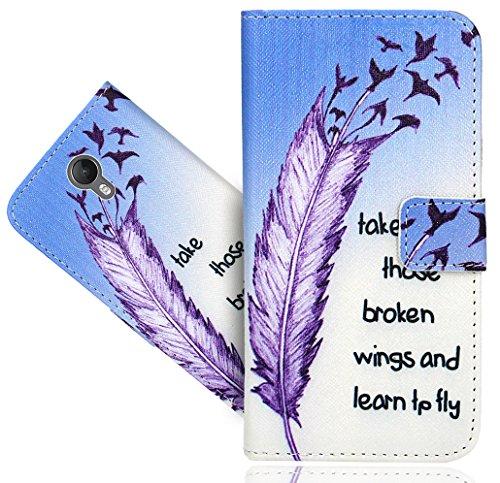 FoneExpert® Wiko Jerry 2 Handy Tasche, Wallet Hülle Flip Cover Hüllen Etui Hülle Ledertasche Lederhülle Schutzhülle Für Wiko Jerry 2